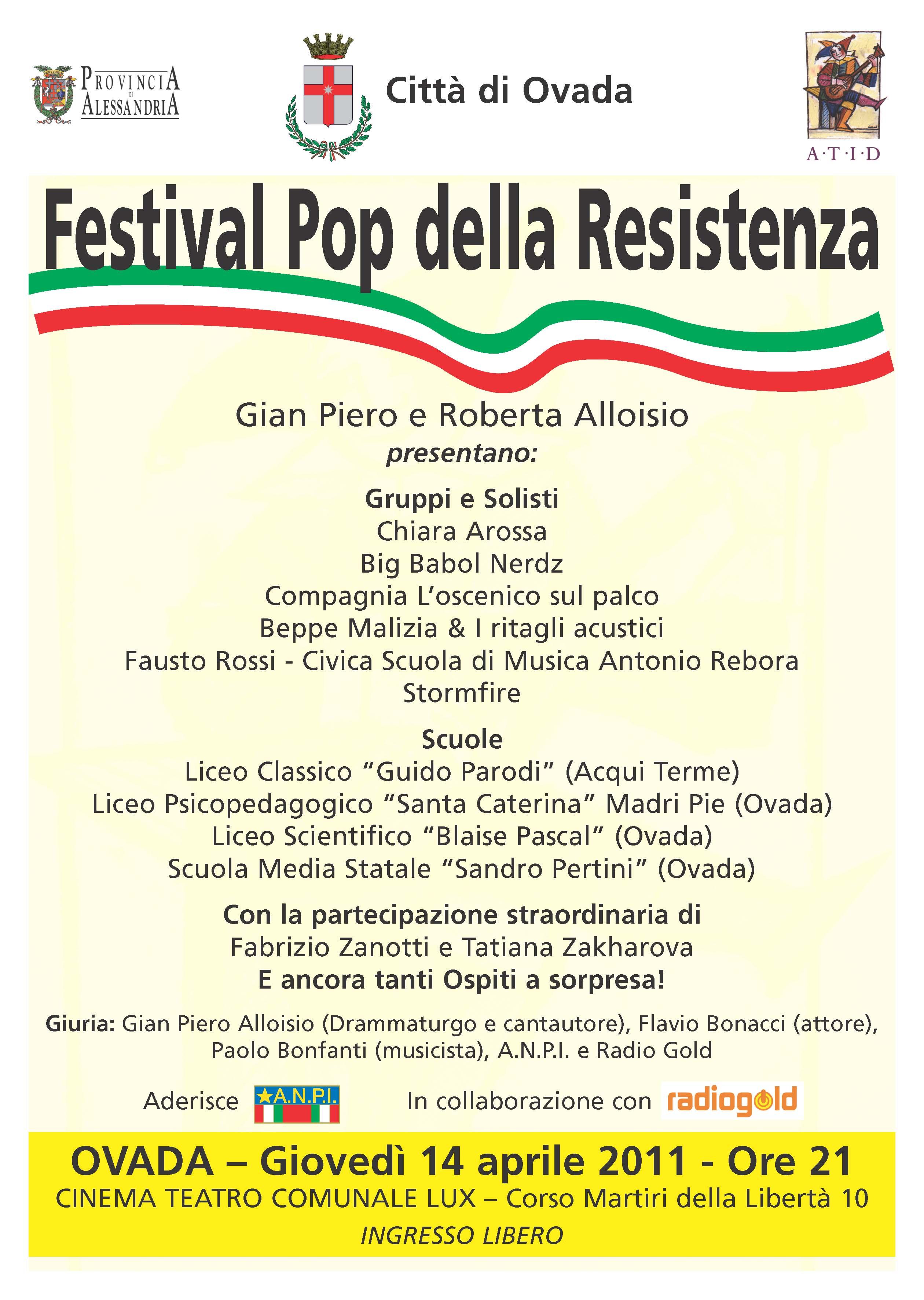 Festival Pop della Resistenza - Ovada 2011