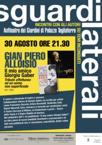 """Gian Piero Alloisio - Presentazione del libro """"Il mio amico Giorgio Gaber"""" @ Giardini di Palazzo Tagliaferro - Andora (SV)   Marina di Andora   Liguria   Italia"""