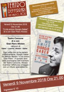 ###RINVIATO CAUSA MALTEMPO### Il mio amico Giorgio Gaber @ Teatro De Ferrari - Noli (SV)   Noli   Liguria   Italia