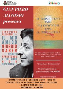 """Gian Piero Alloisio presenta """"Il mio amico Giorgio Gaber"""" @ Centro polivalente """"Giovanni Falcone"""" - Camporosso (IM)   Camporosso   Liguria   Italia"""