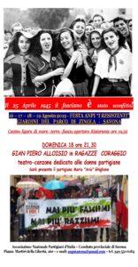 Gian Piero Alloisio in Ragazze Coraggio - Savona @ Giardini del Parco di Zinola - Savona   Savona   Liguria   Italia