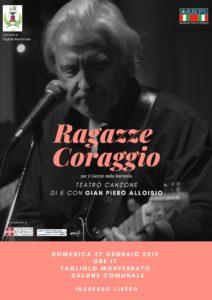 Gian Piero Alloisio in Ragazze Coraggio @ Salone Comunale - Tagliolo Monferrato (AL)  | Tagliolo Monferrato | Piemonte | Italia